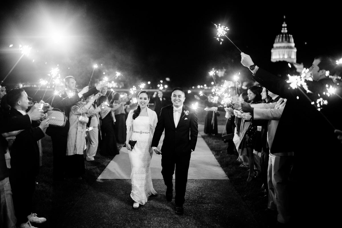 charleston wv wedding reception uc sparkler exit