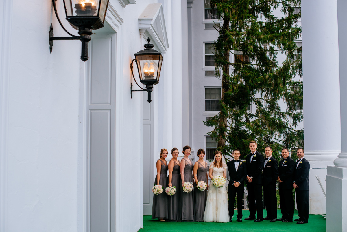 full wedding party greenbrier