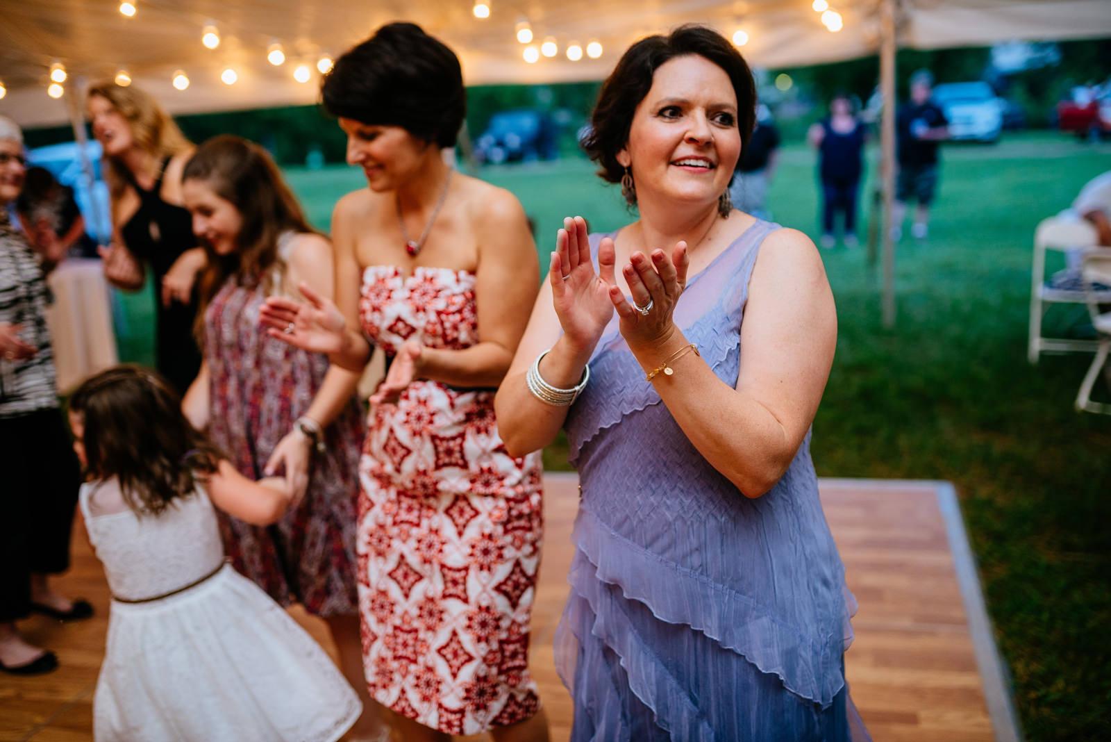 guest dancing west virginia wedding reception
