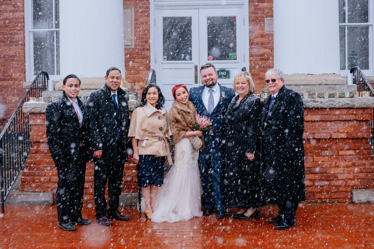 lewisburg west virginia snowy elopement 1