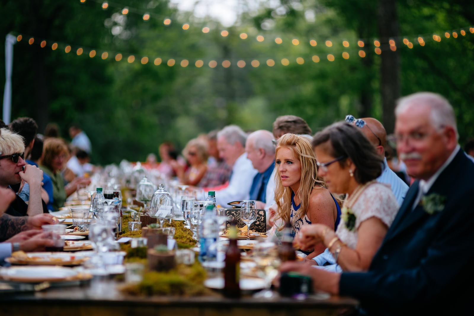 outdoor wedding reception dinner gaines estate fayetteville wv wedding