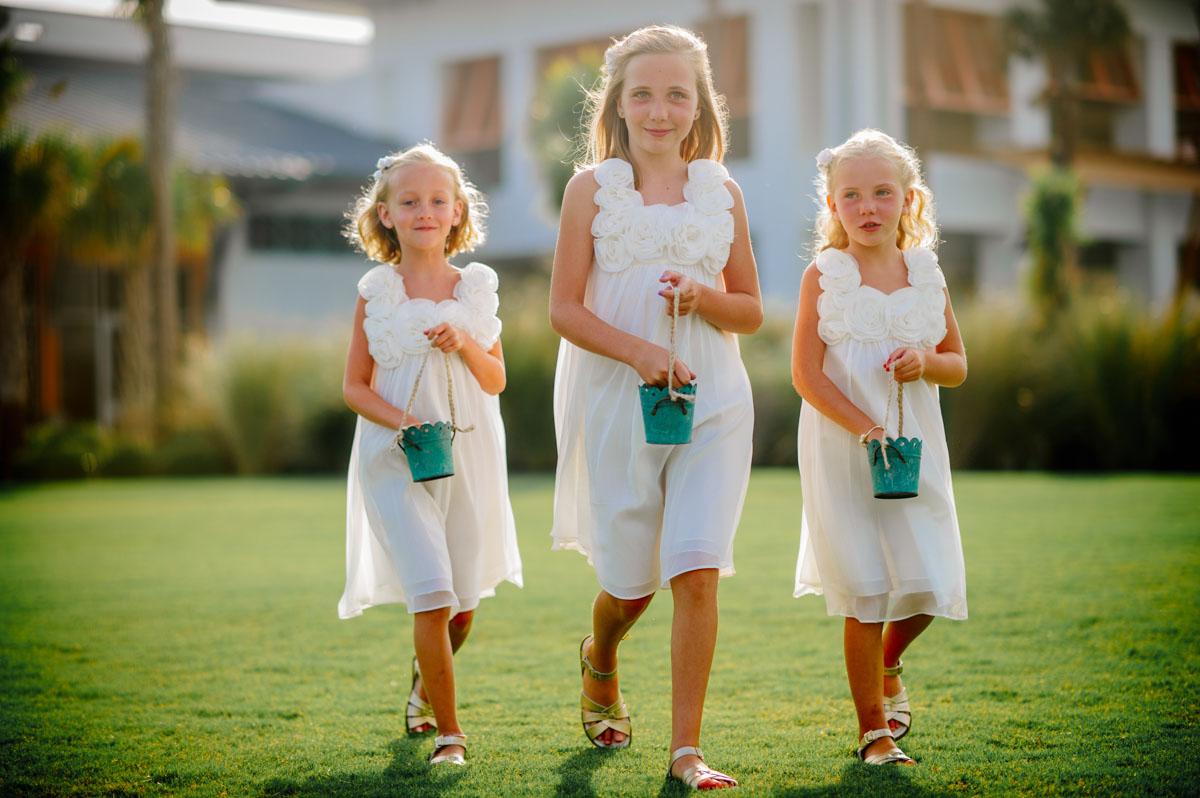 three flowergirls jekyll island convention center wedding