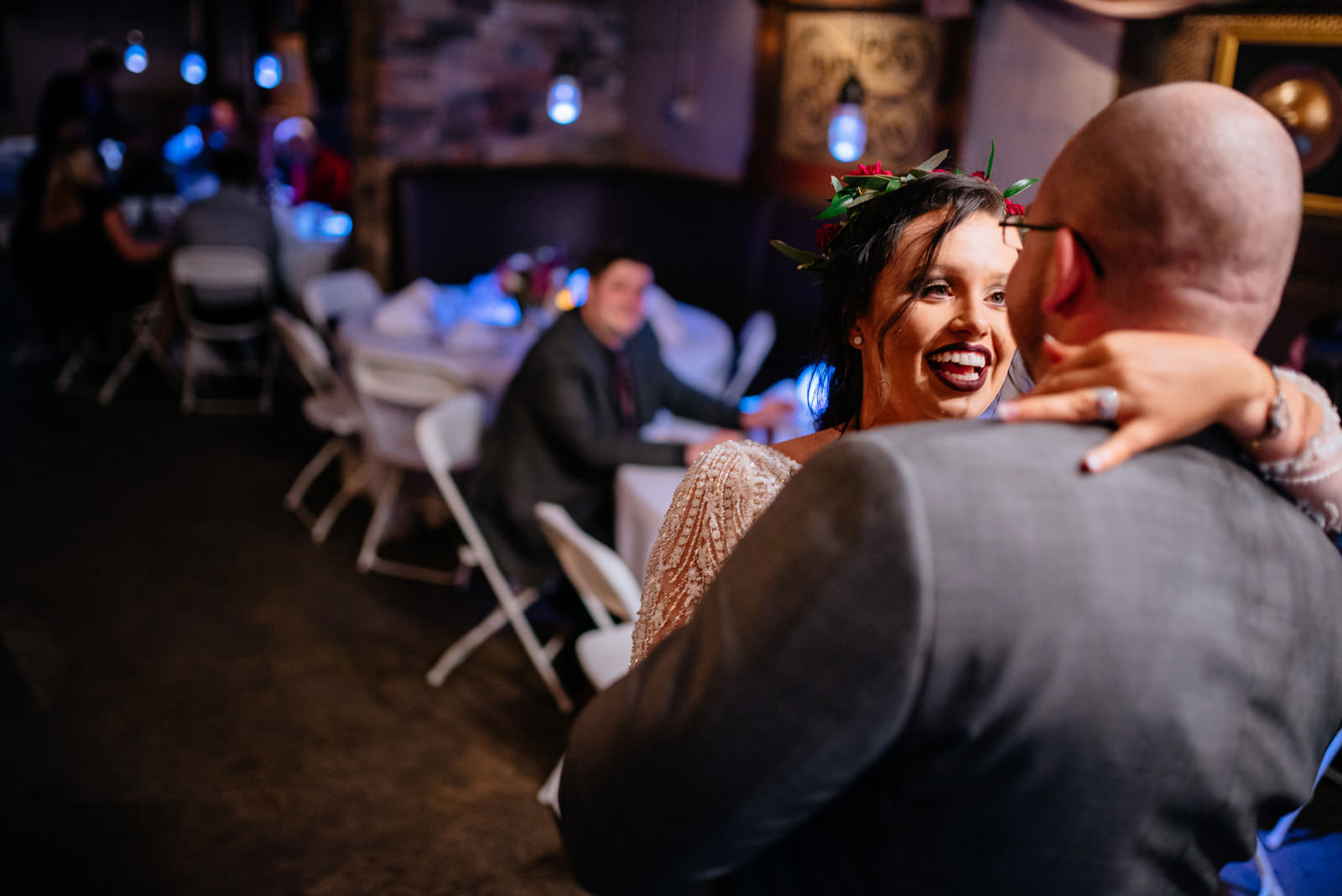 bride groom first dance wedding candid