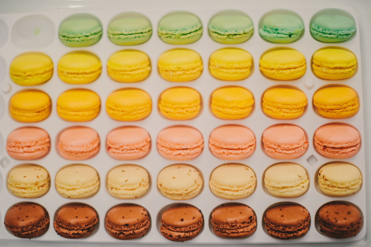 colorful macarons wedding treats