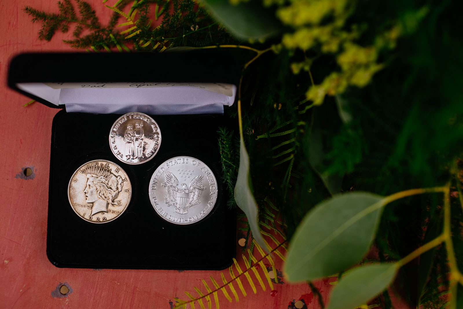 father of bride gift coins