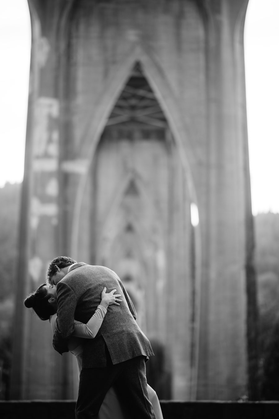 first kiss wedding dip happy ceremony moments