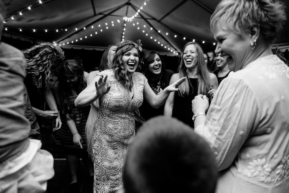 happy bride mother wedding reception candid photography