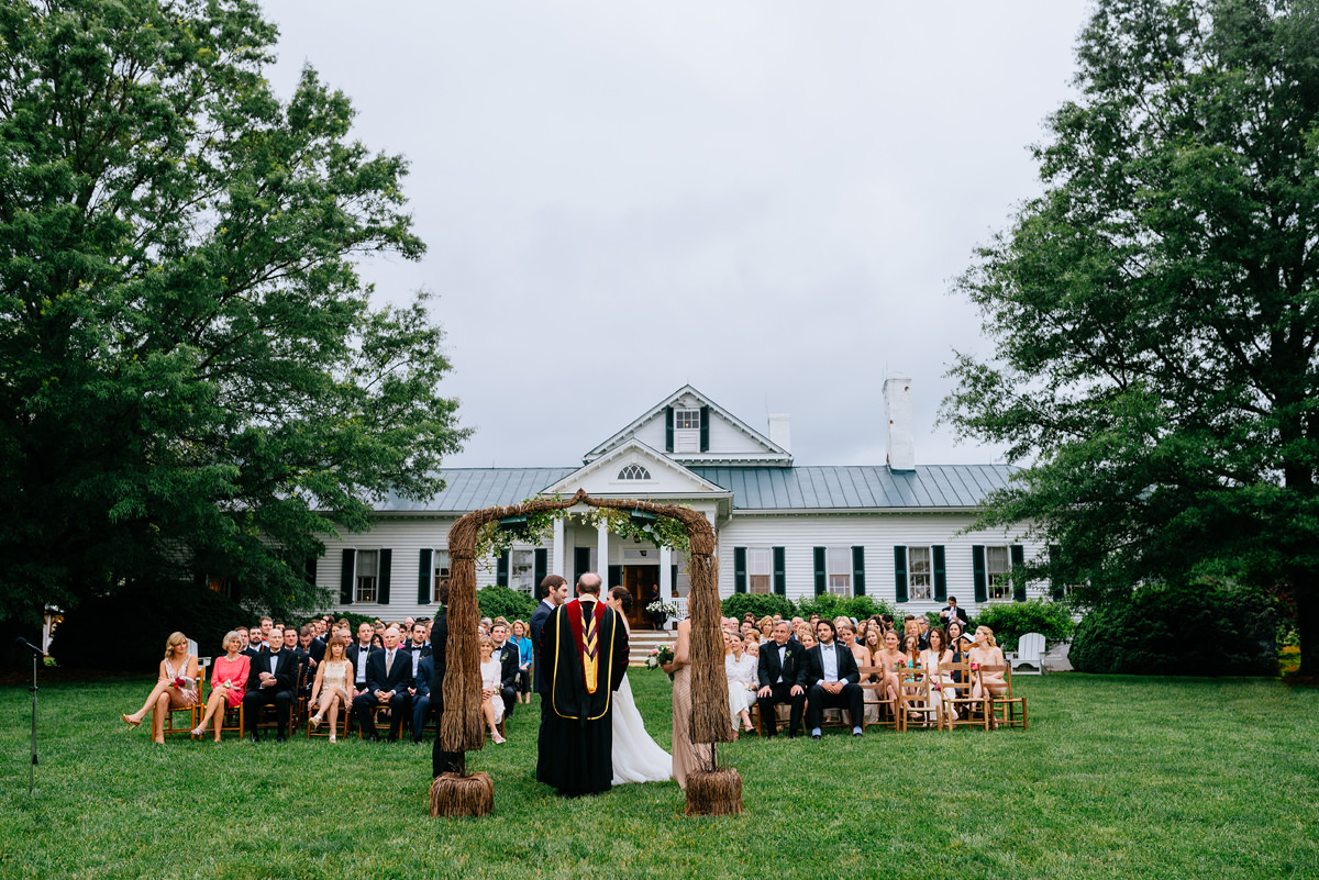 pharsalia virginia wedding ceremony