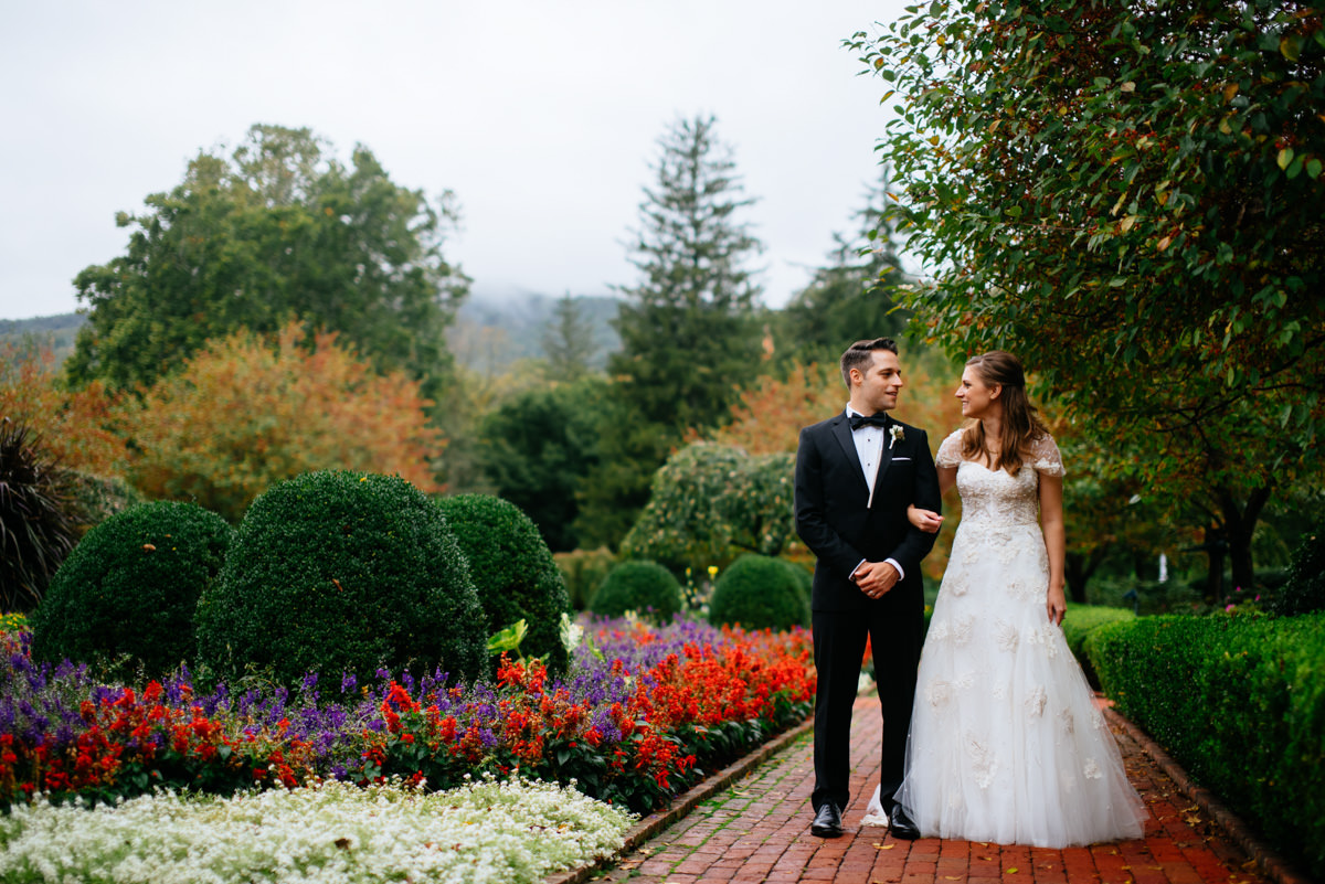 bride and groom portrait at the greenbrier