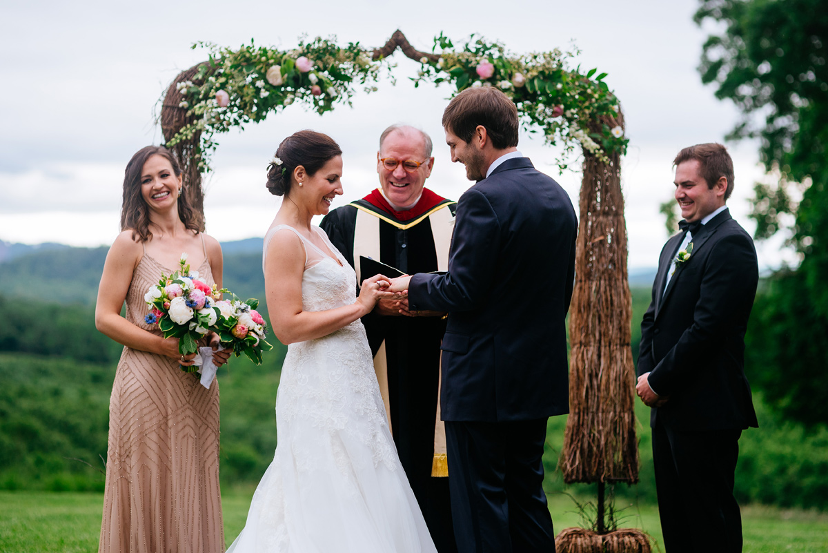 pharsalia virginia wedding ceremony ring exchange