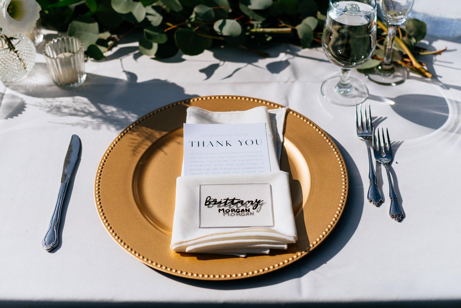 wedding details table settings