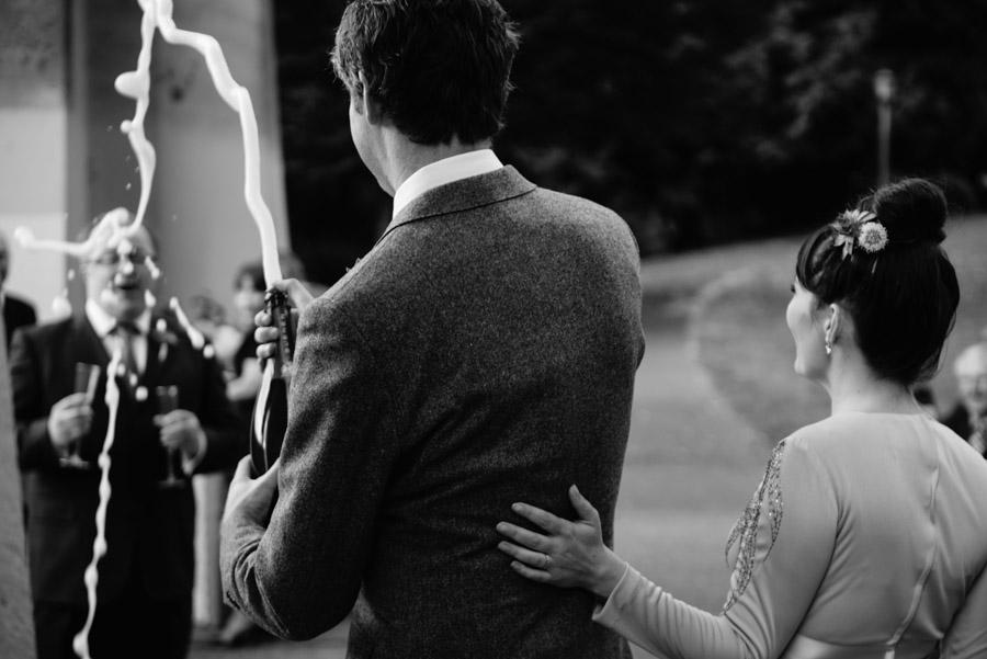 champagne money shot wedding moments