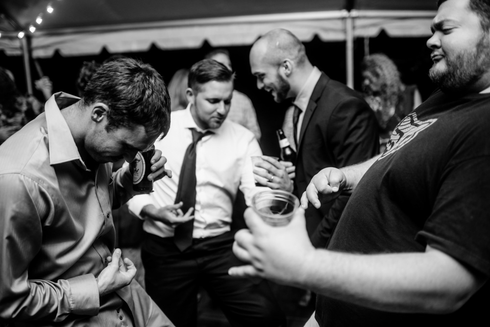 groomsmen air guitar journey dont stop believing benedict haid wv wedding reception the oberports