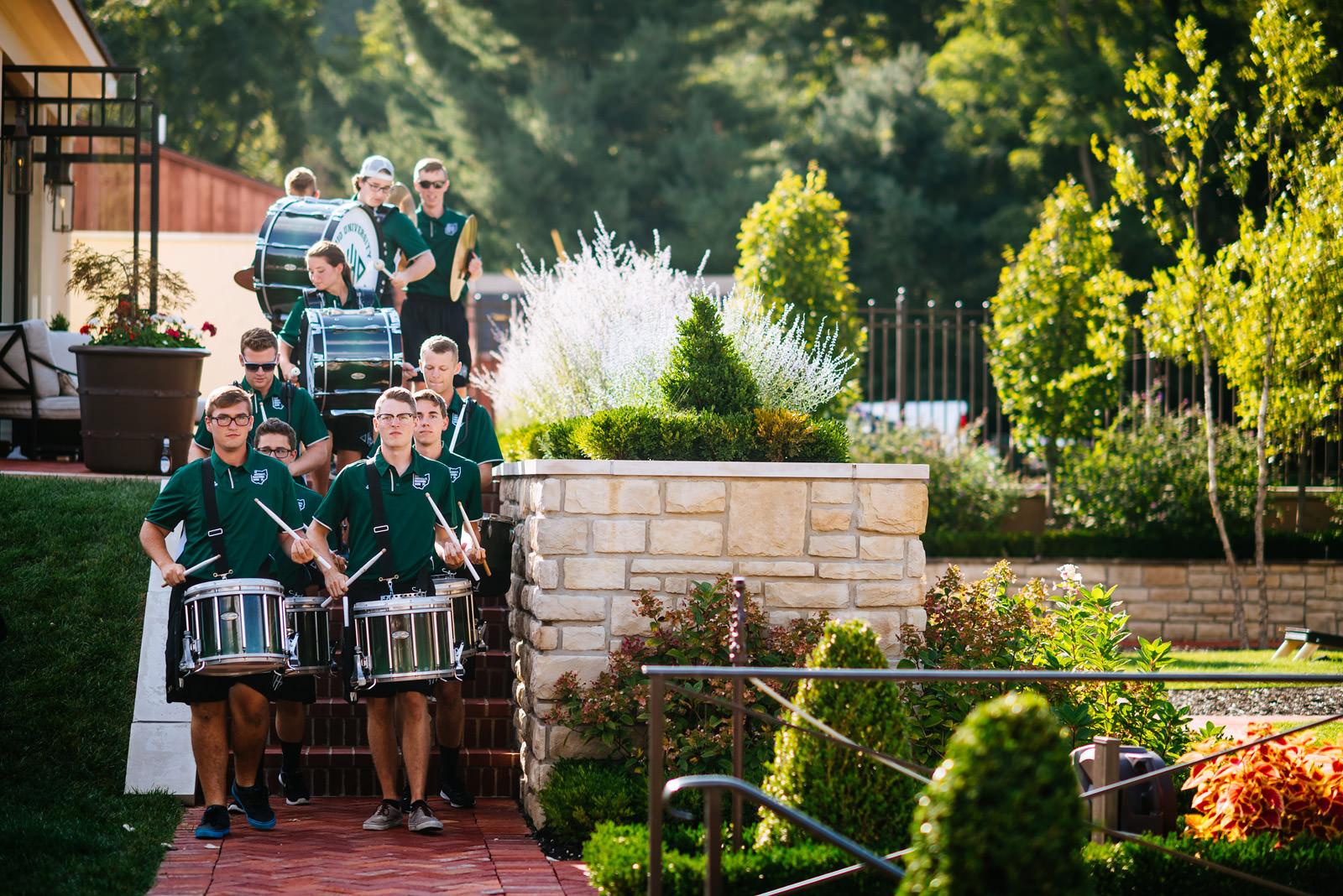 ohio university drumline zenner house wedding athens ohio