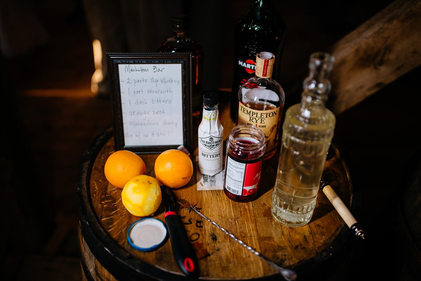 wv wedding reception manhattan drink bar