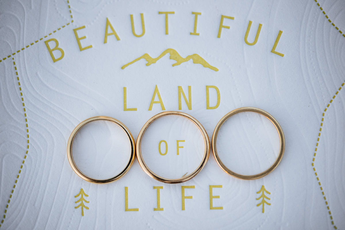 kelby designs wedding ring set basecamp printing letterpress wedding stationery
