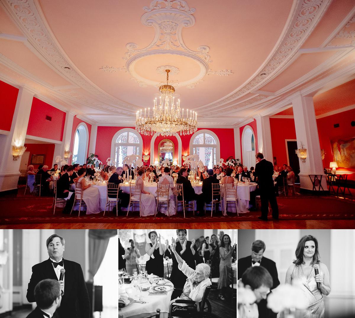 wedding speeches in ballrooms