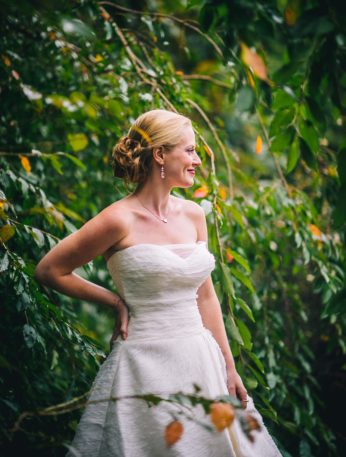 bridal portrait by the oberports