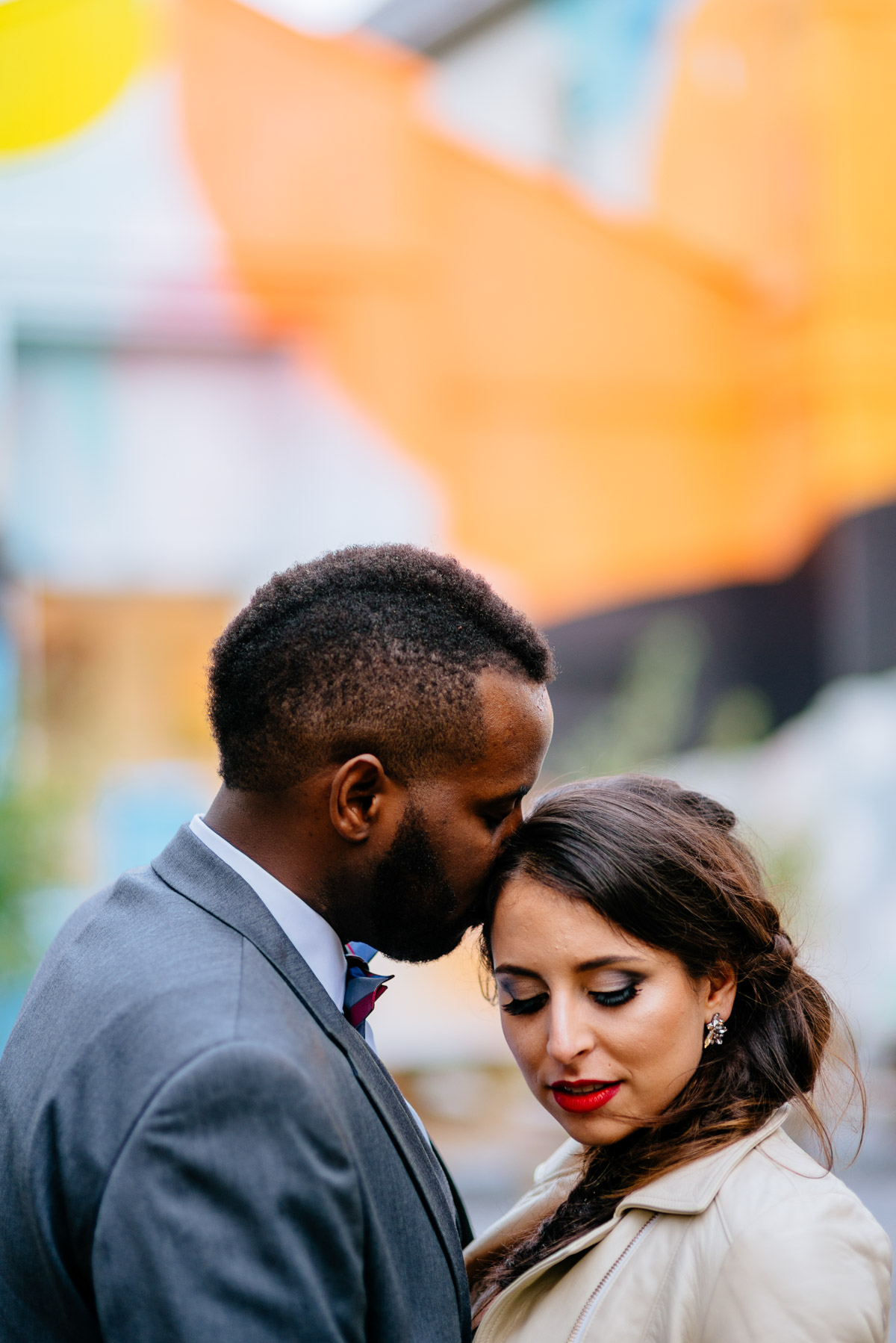 bride and groom at blind whino washington dc wedding