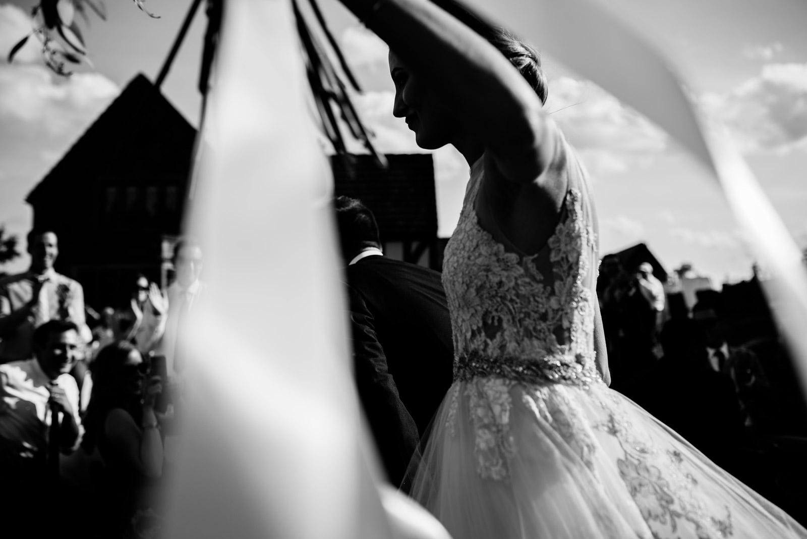 bride entering reception zenner house wedding