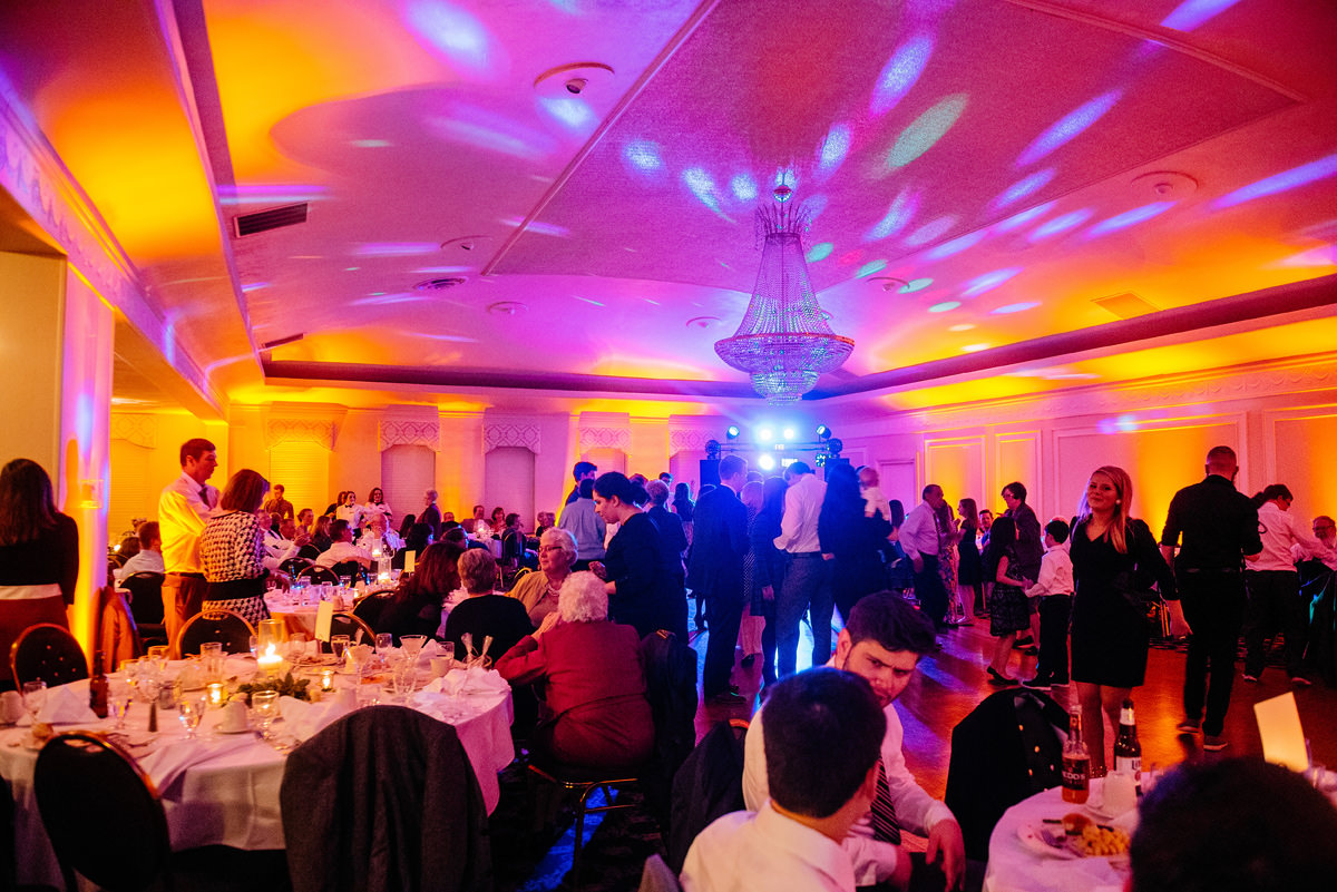 wv winter wedding dj bravo live lights dancing