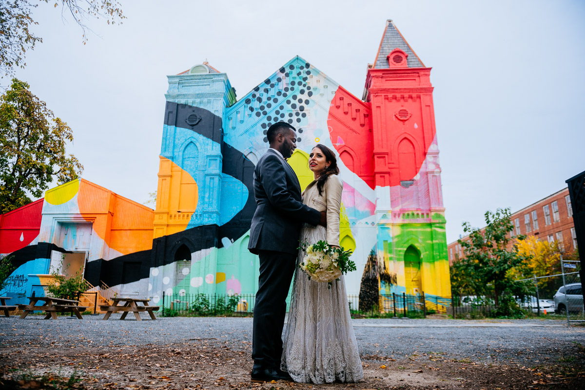 blind whino culture house dc wedding portrait