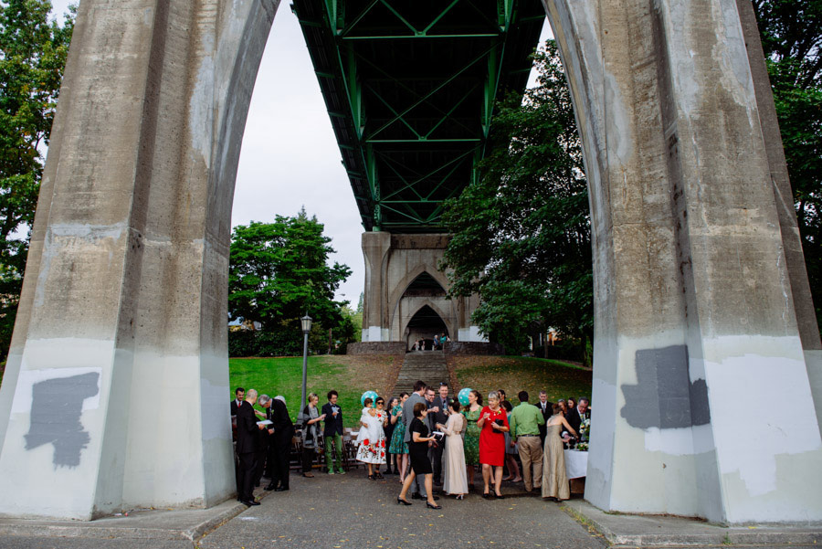 cathedral park portland wedding