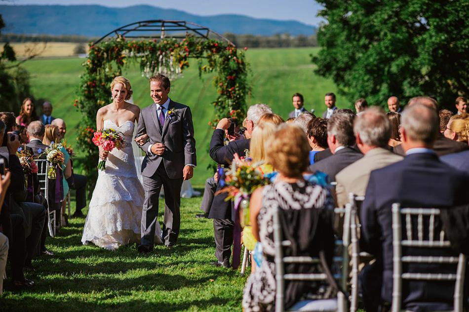 pittsburgh farm wedding ceremony exit