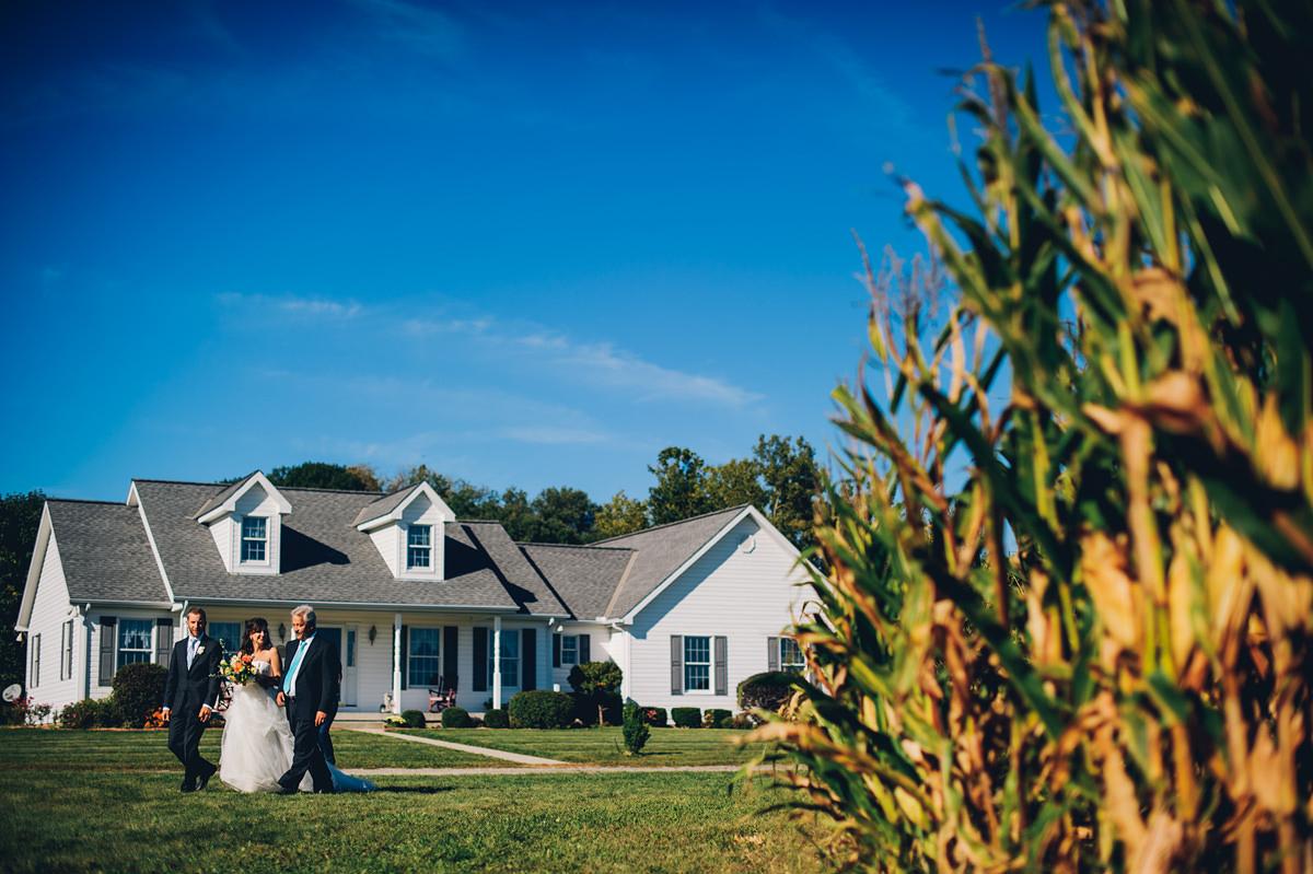 backyard wedding reception entrance