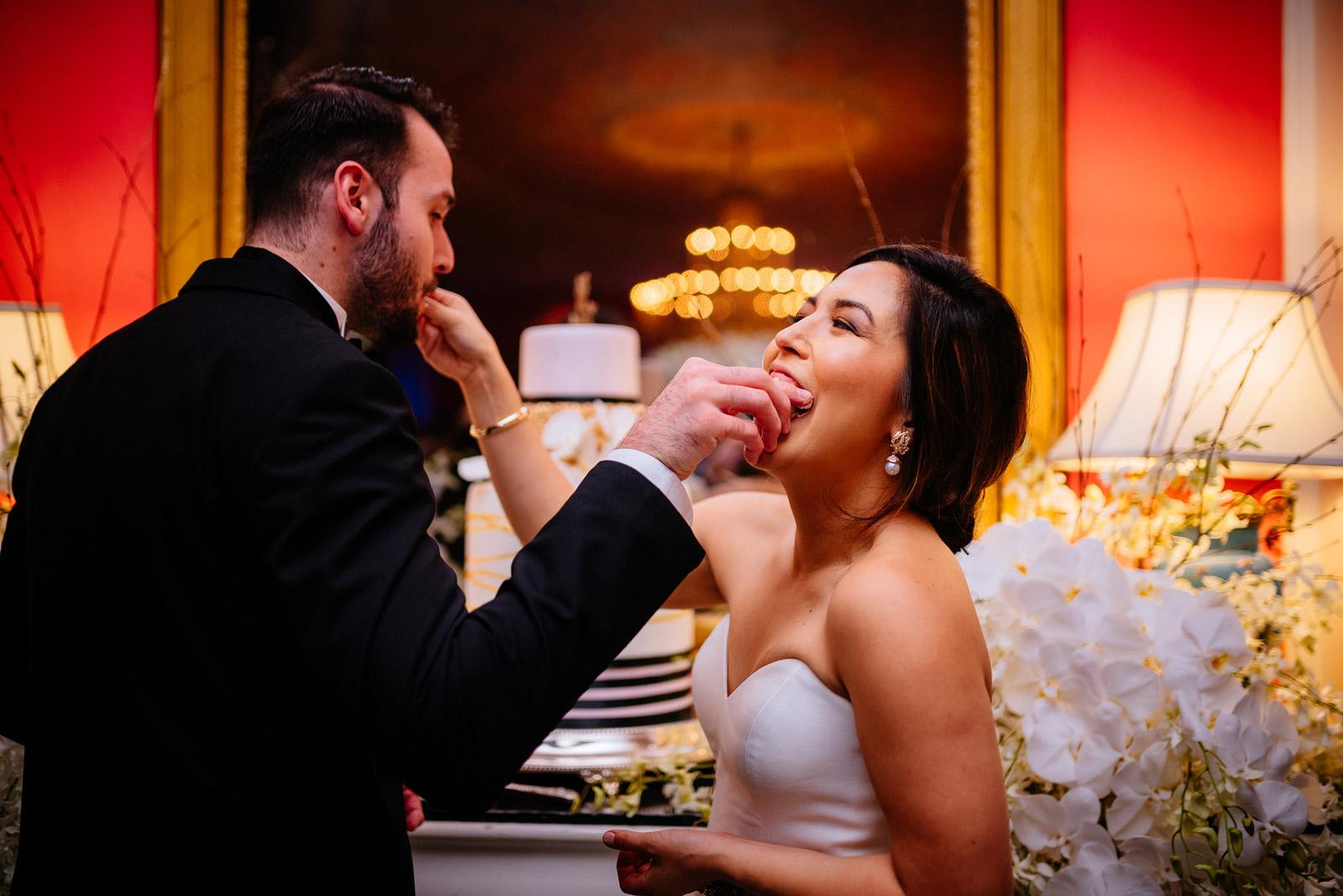 cake cutting greenbrier resort cameo ballroom wedding reception