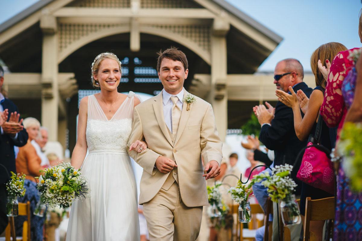 happy recessional wedding ceremony pictures jekyll island