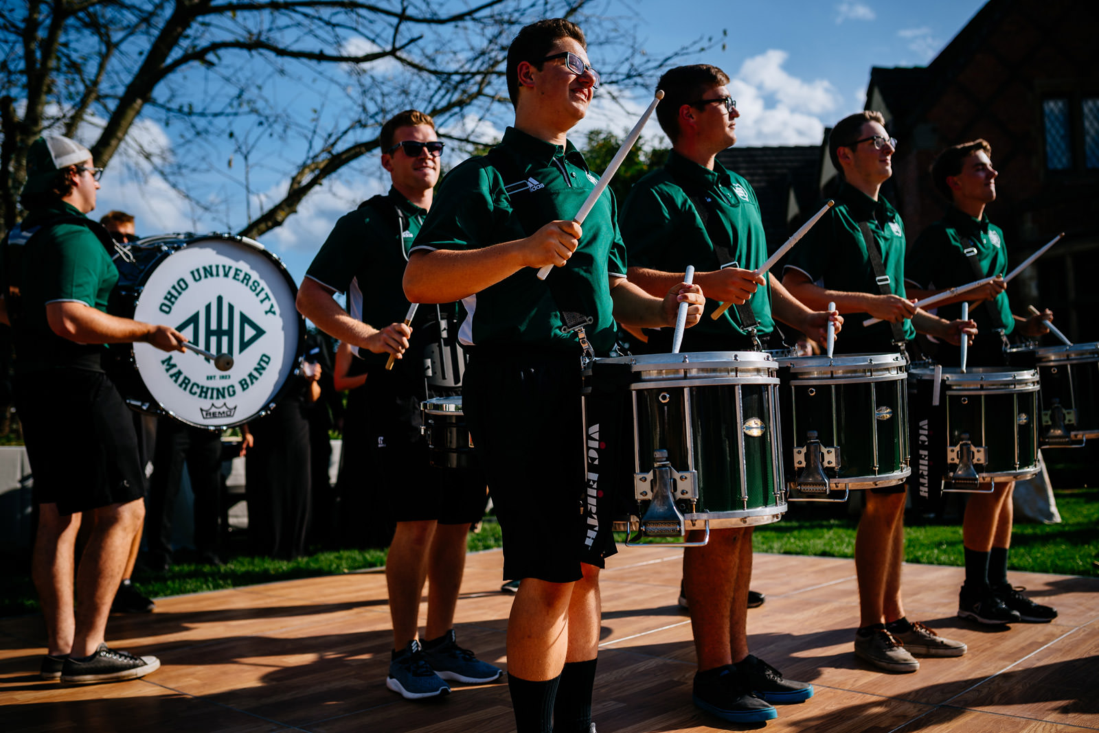 ohio university marching 110 drumline zenner house wedding athens ohio