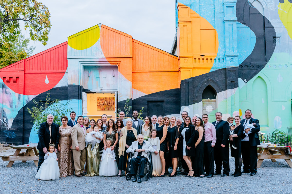 blind whino wedding family pics