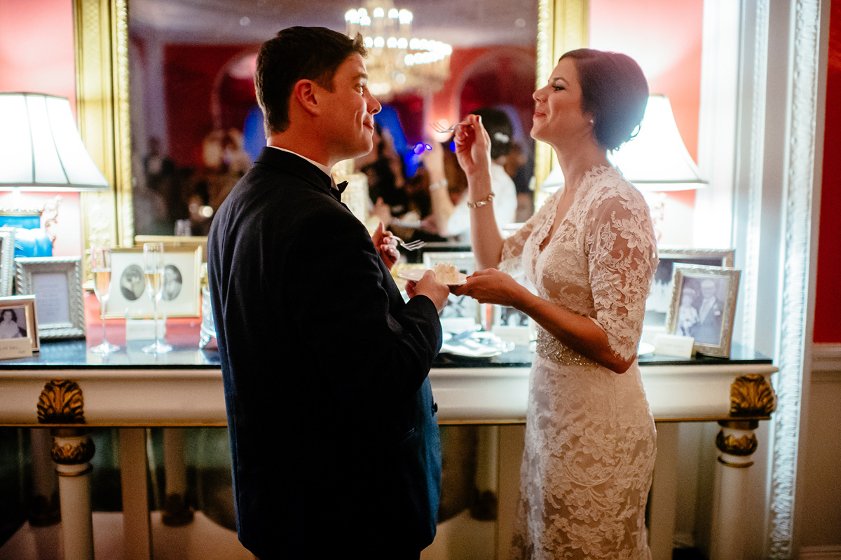 cake cutting at the greenbrier
