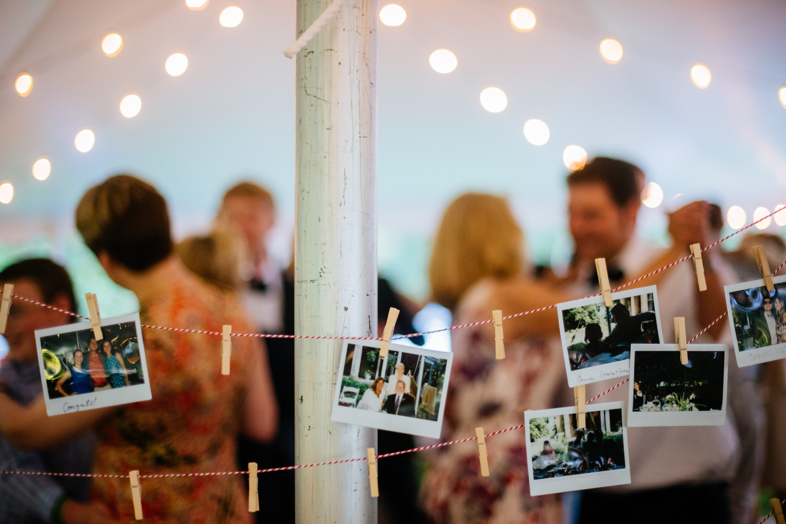 guest polaroids at wedding