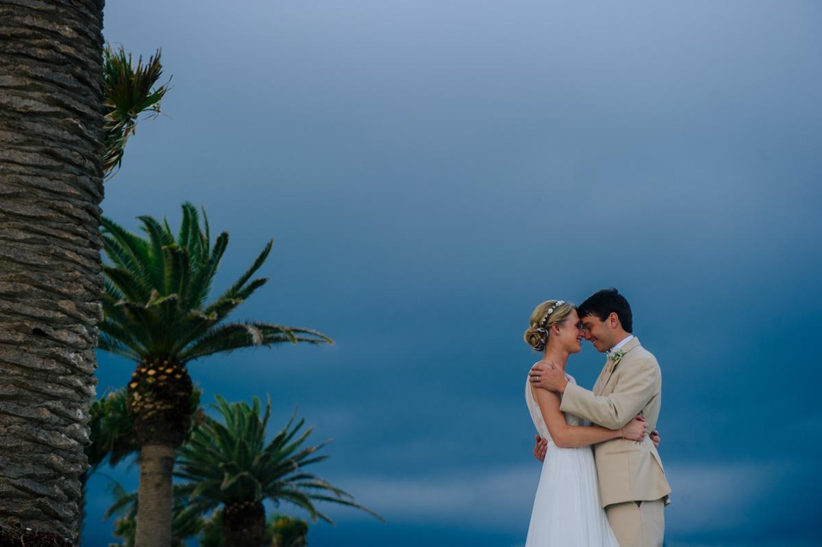 island wedding stormy portraits