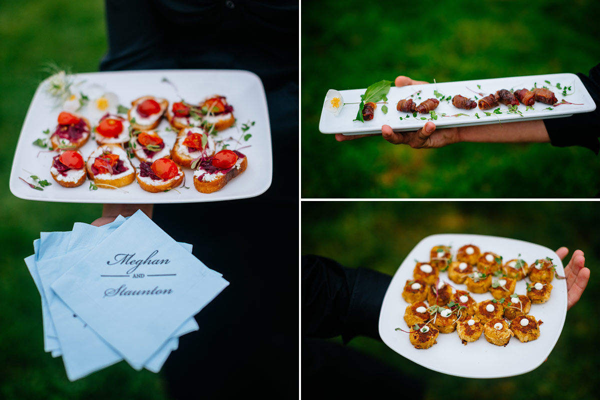pharsalia virginia wedding cocktail hour food by letoile catering 1