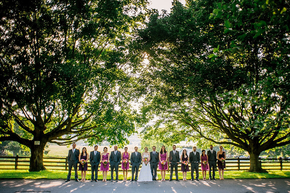 creative wedding party portrait by pittsburgh photographers the oberports