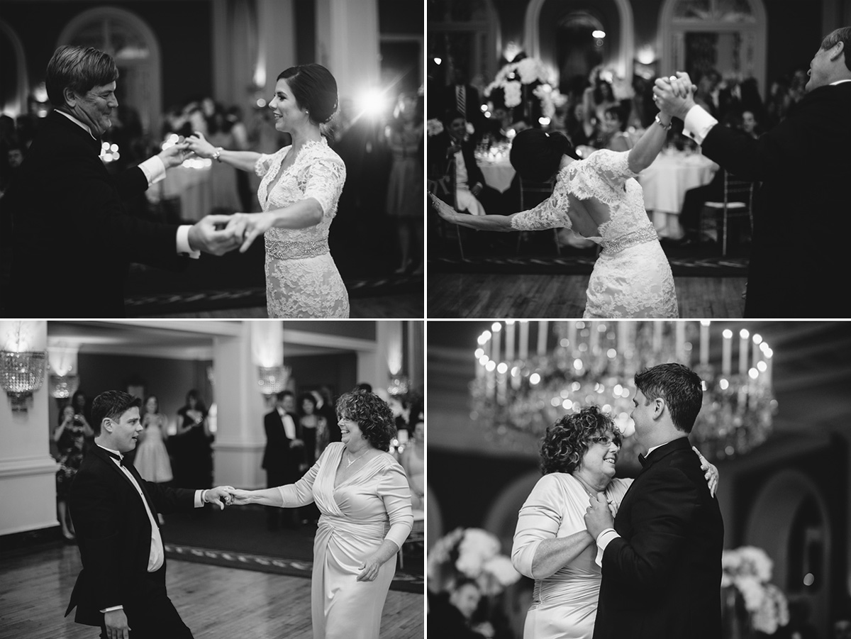 sweet father daughter and mother son wedding dances