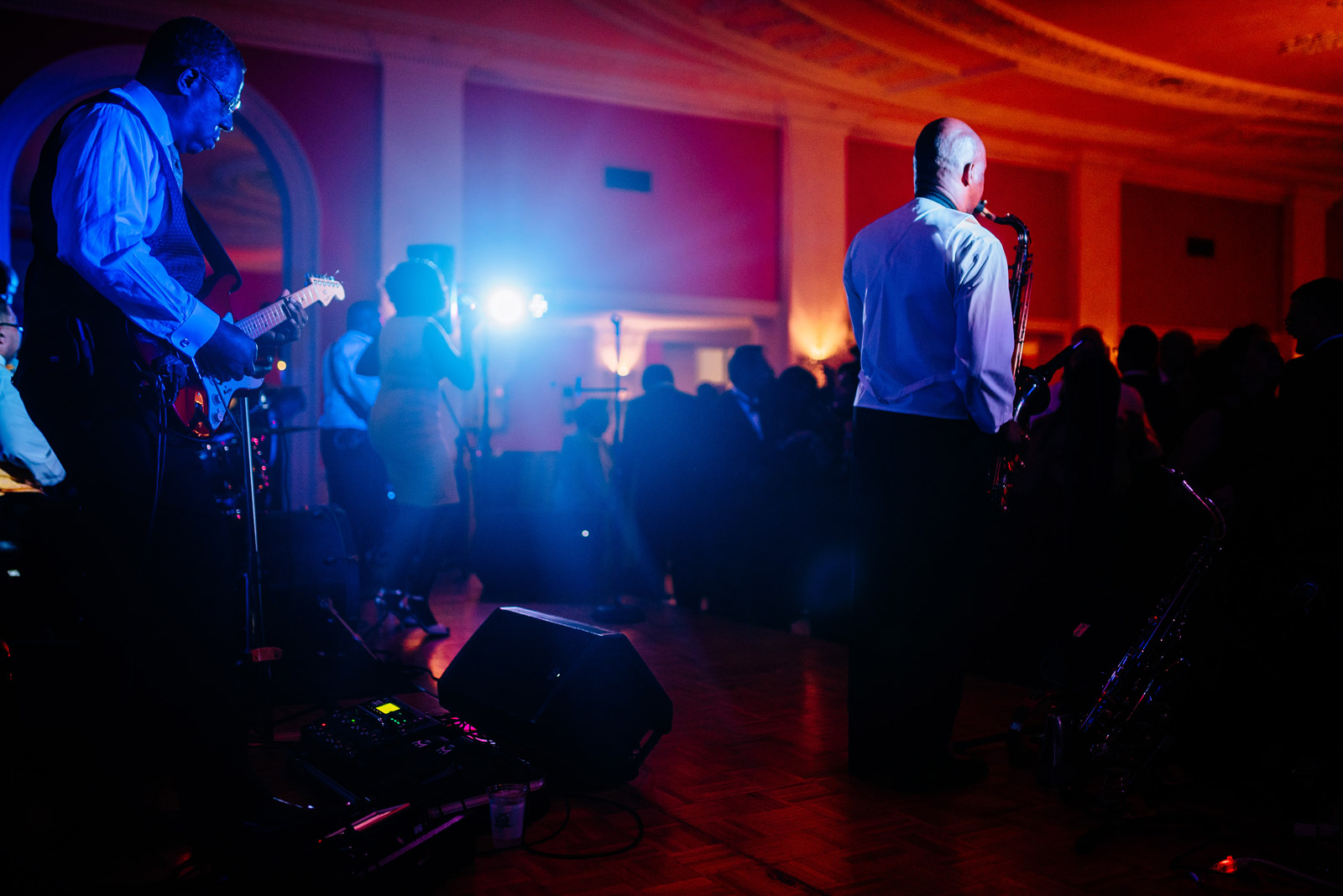 another level band greenbrier resort cameo ballroom wedding reception