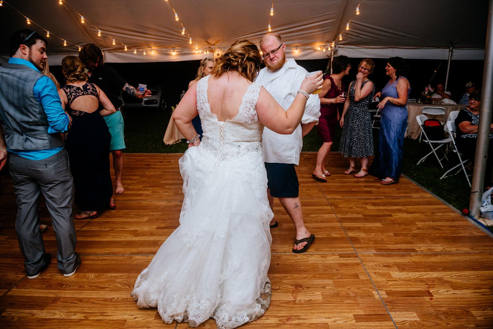 bride groom dancing reception wv