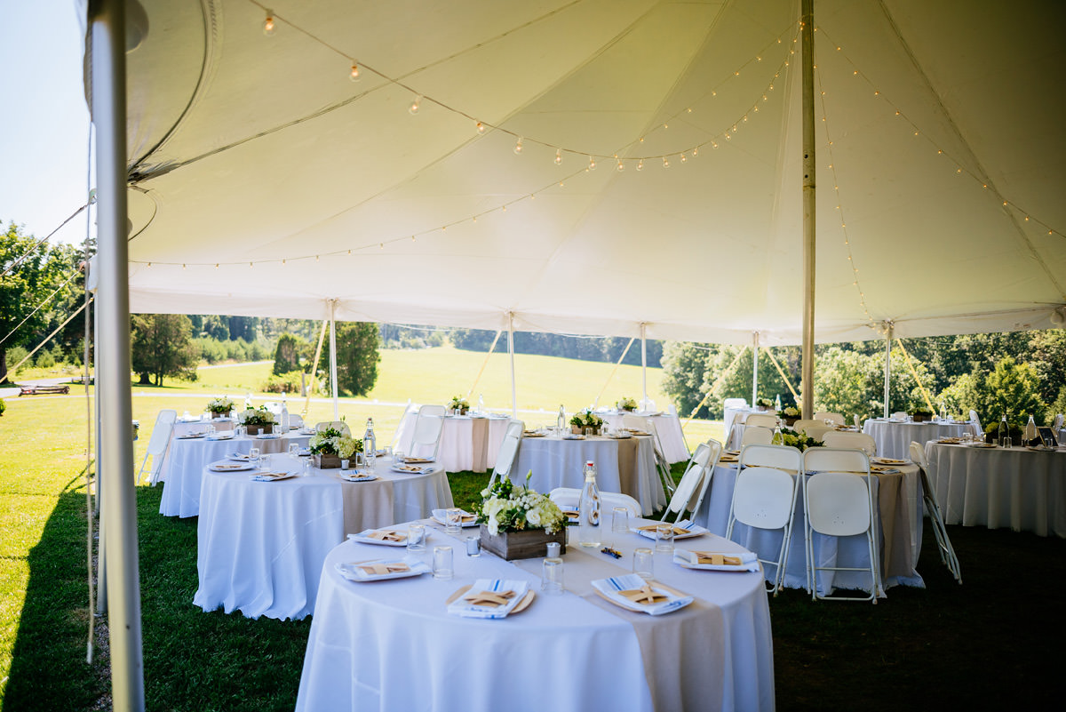 confluence resort wedding tent
