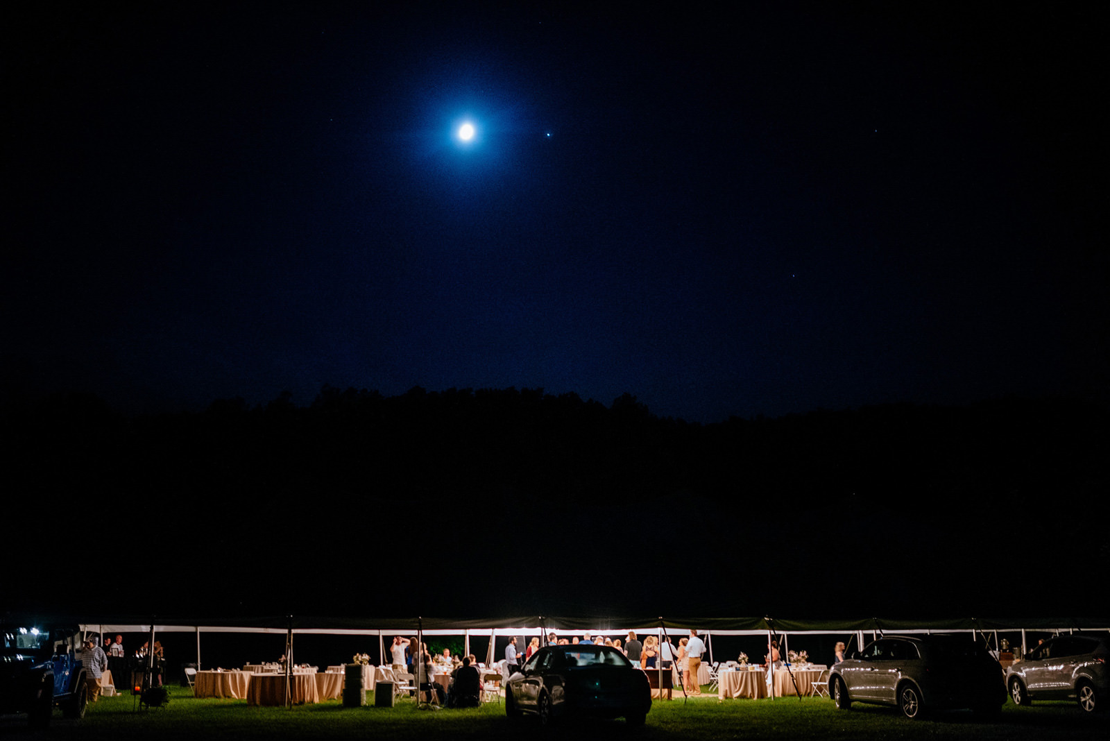 cheat river wedding outdoor reception