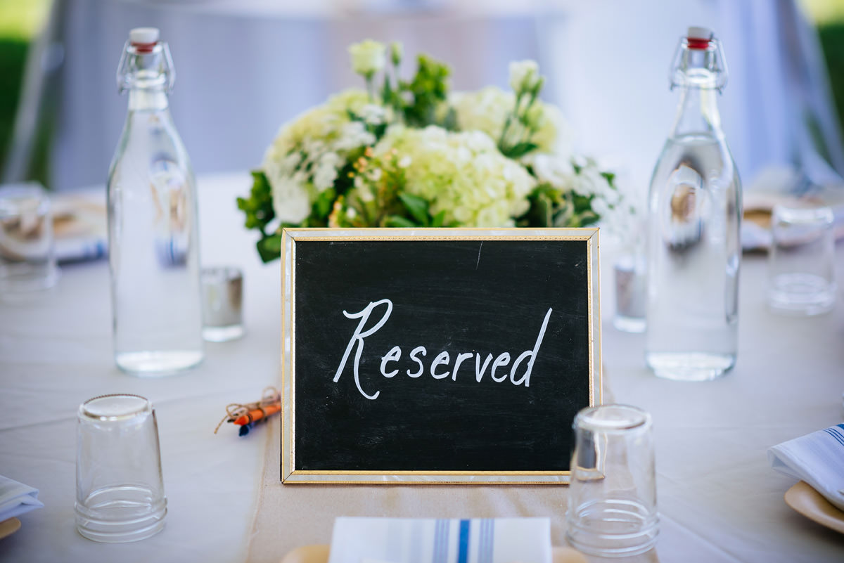 confluence resort wedding tables