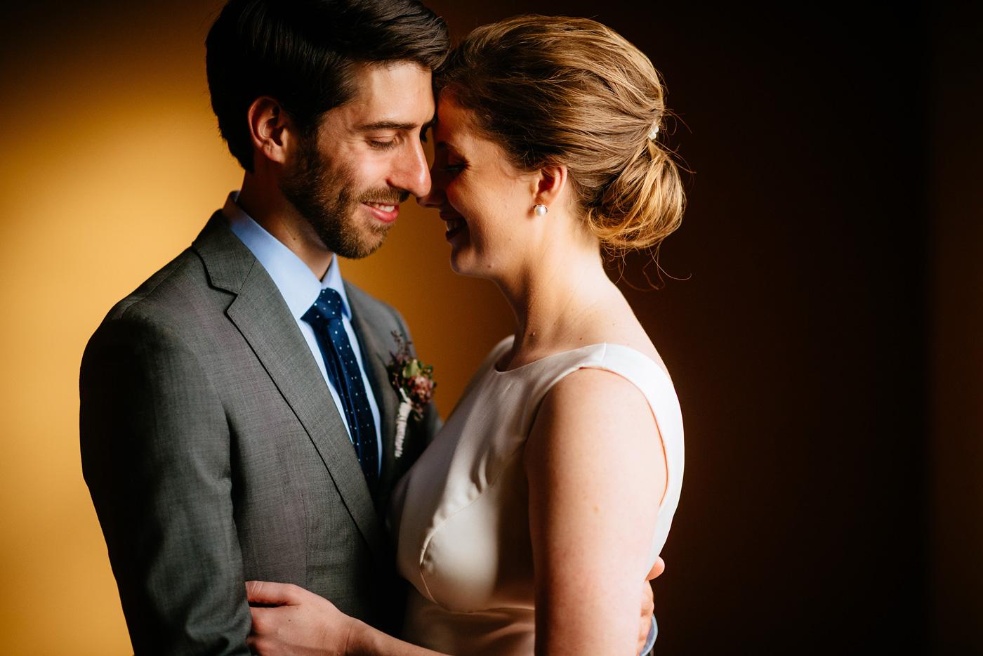 wedding portrait cuddles