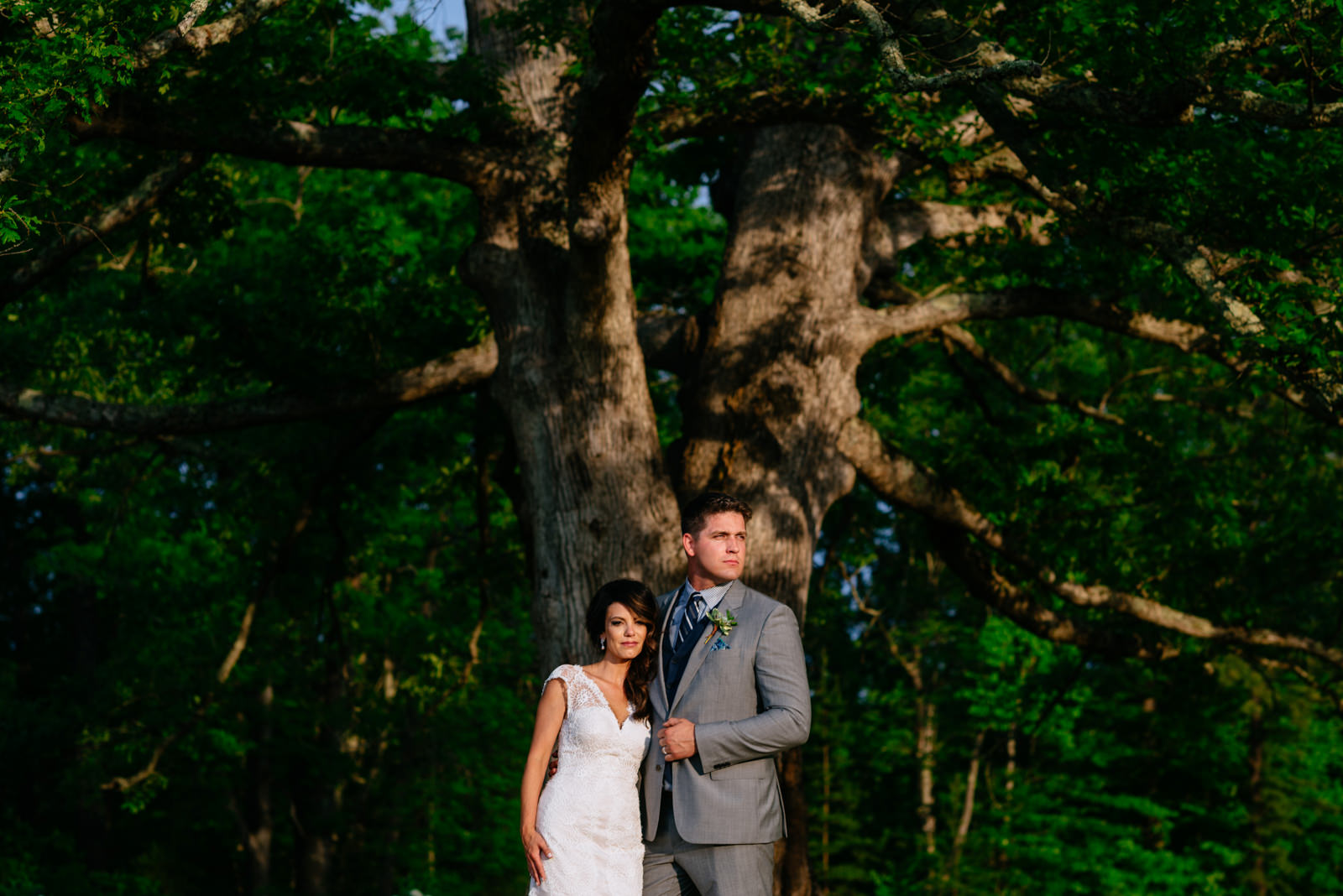 wedding portraits under white oak tree gaines estate fayetteville wv wedding