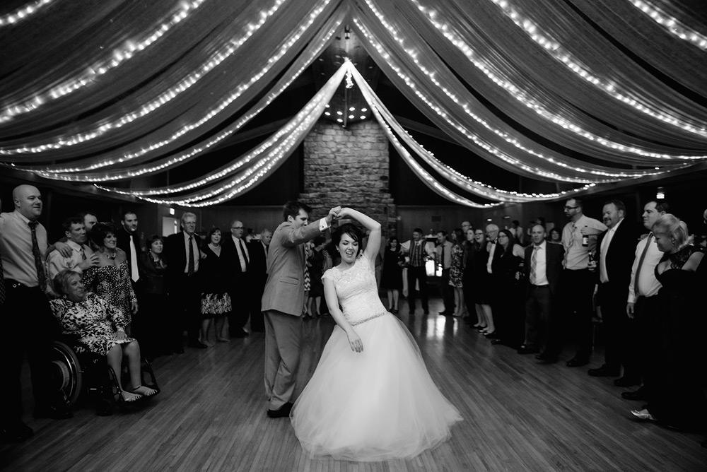 bride groom dancing glessner ballroom oglebay wedding