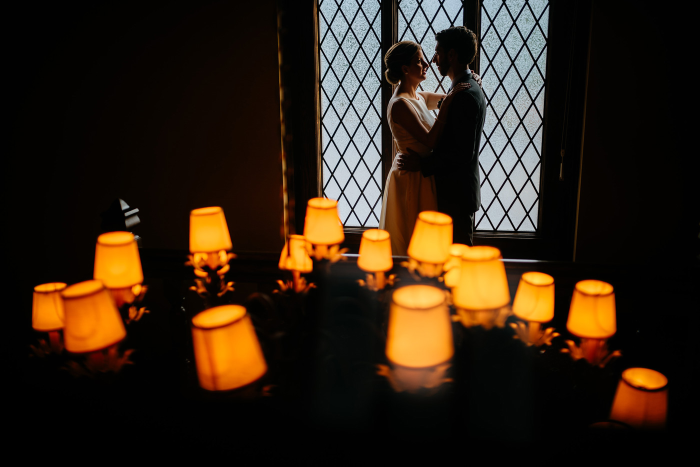 cool silhouette wedding photo