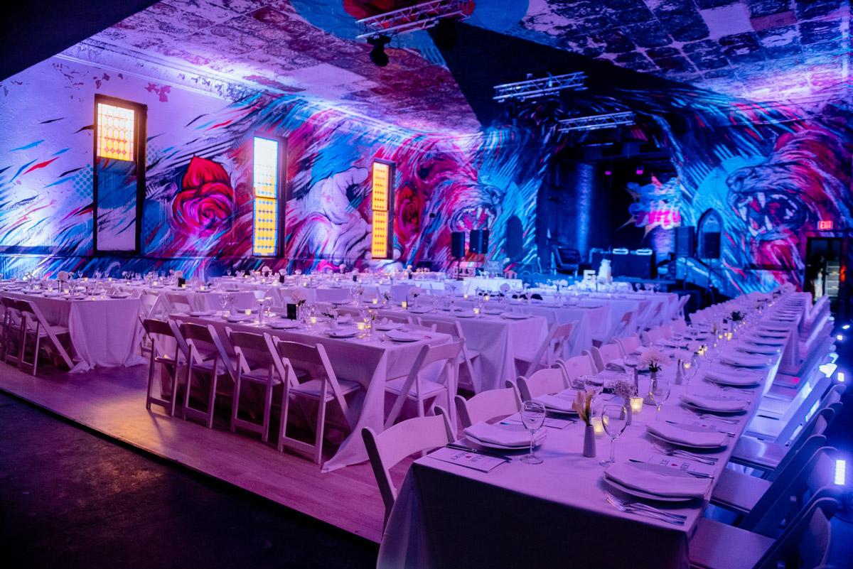 blind whino wedding reception