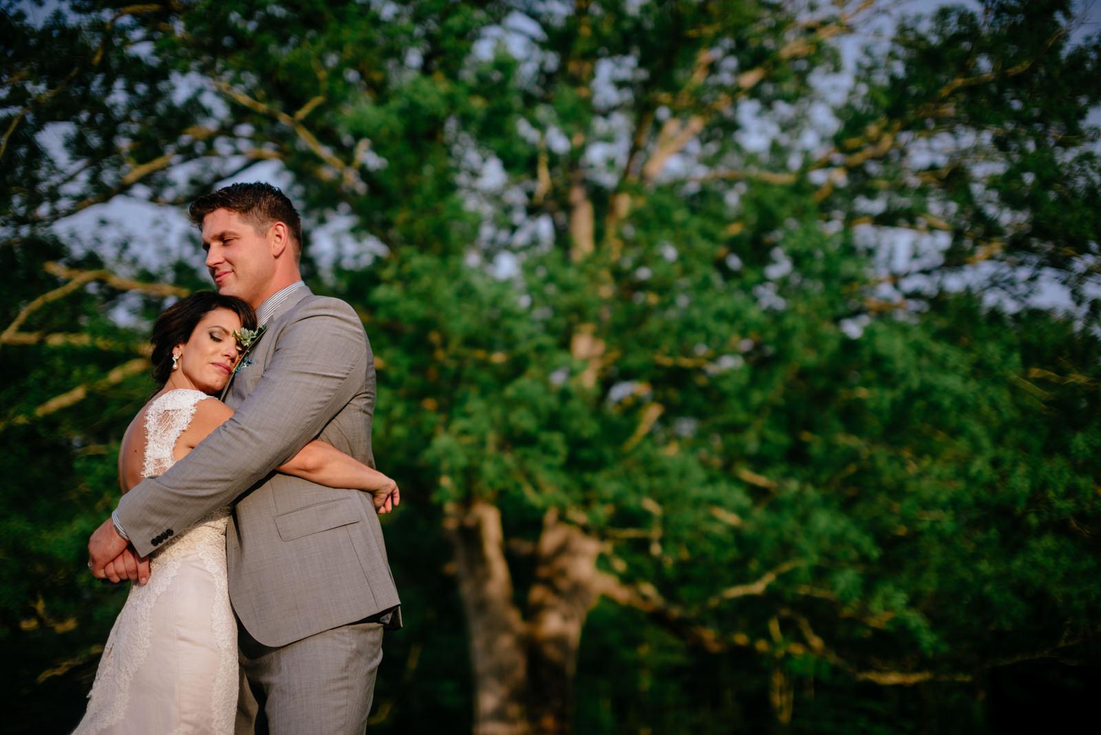wedding portraits under white oak tree gaines estate fayetteville wv wedding